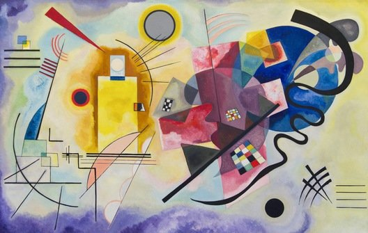 Vassily Kandinsky, Yellow-Red-Blue, huile sur toile, 1925.